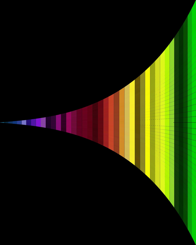 Waves clipart yellow. Vanishing point spectrum wall