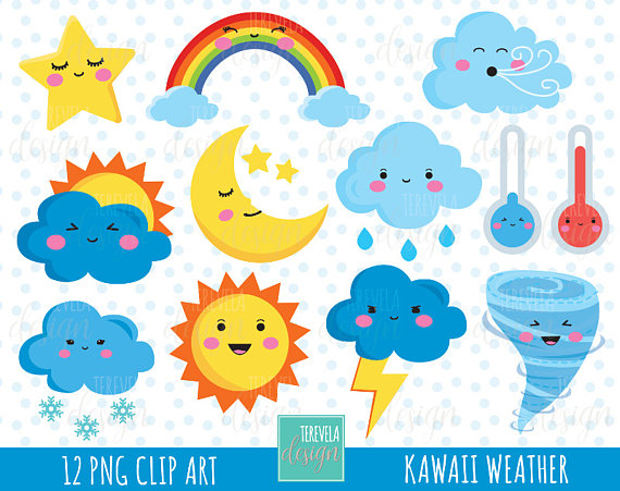 Weather clipart.  sale icons commercial