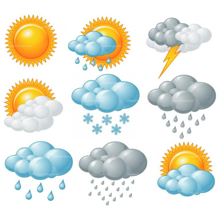 Weather clip art for. Boxes clipart kid