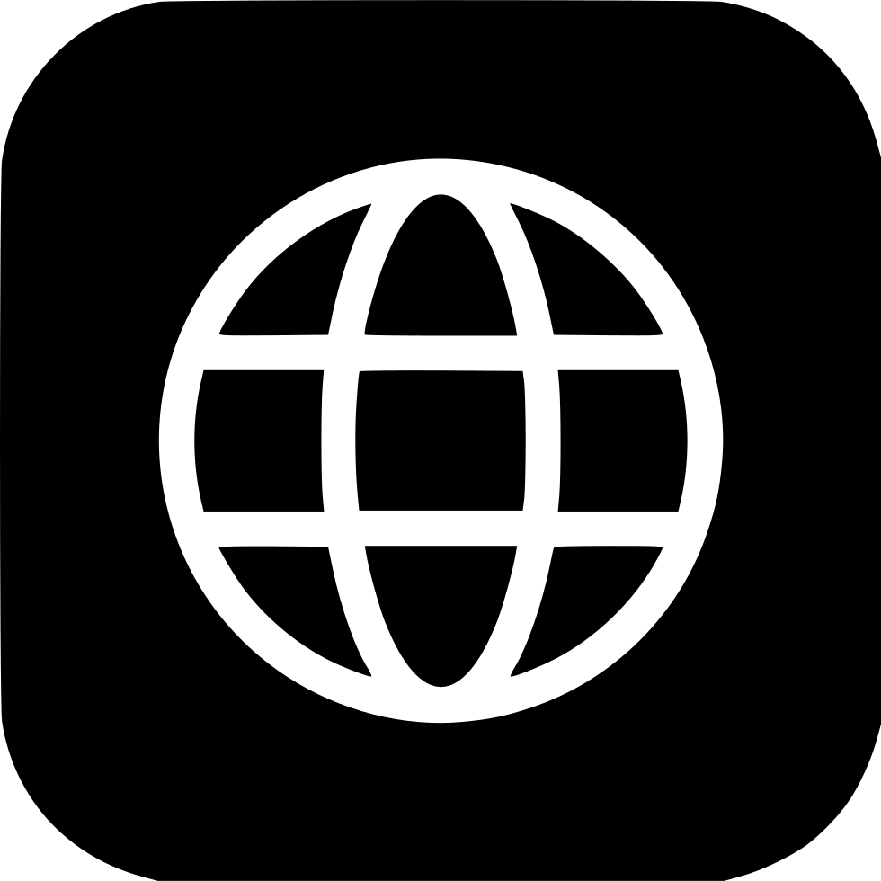 Earth world wide circle. Web icon png