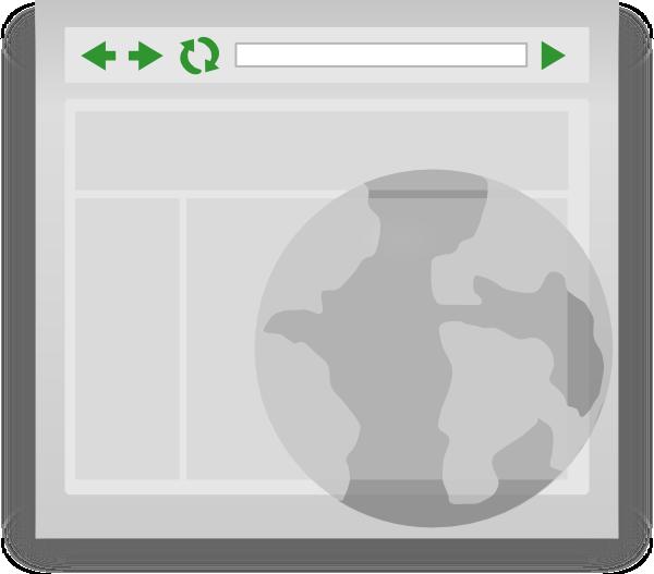 Web clip art at. Website clipart browser
