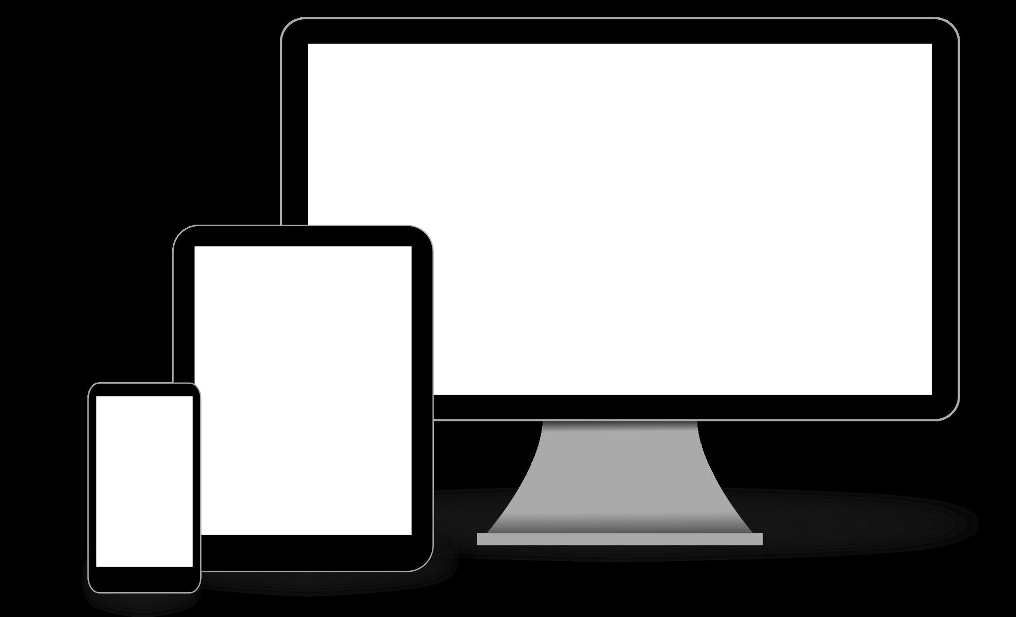 File responsive web design. Website clipart computer time