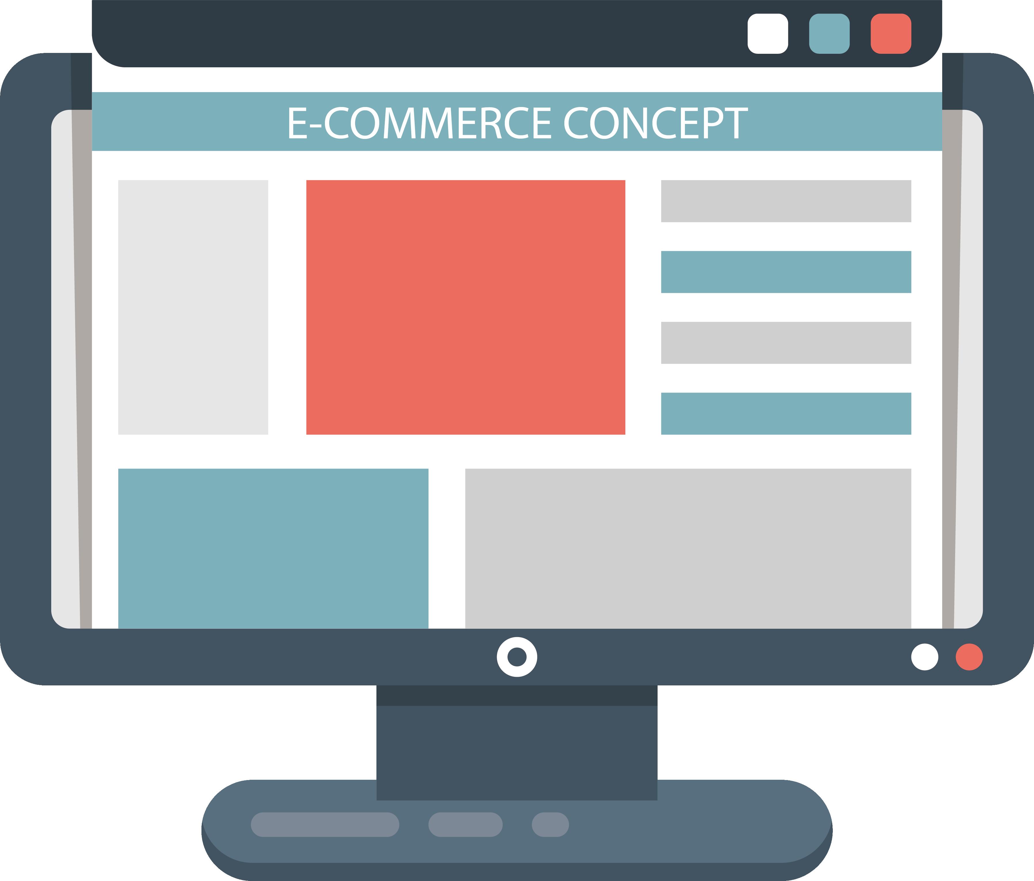 E commerce webstore icon. Website clipart computer website