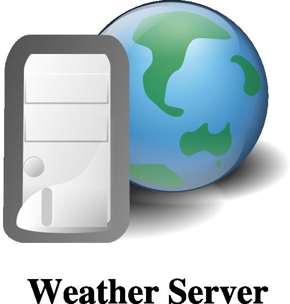 Weather server clip art. Website clipart electronics