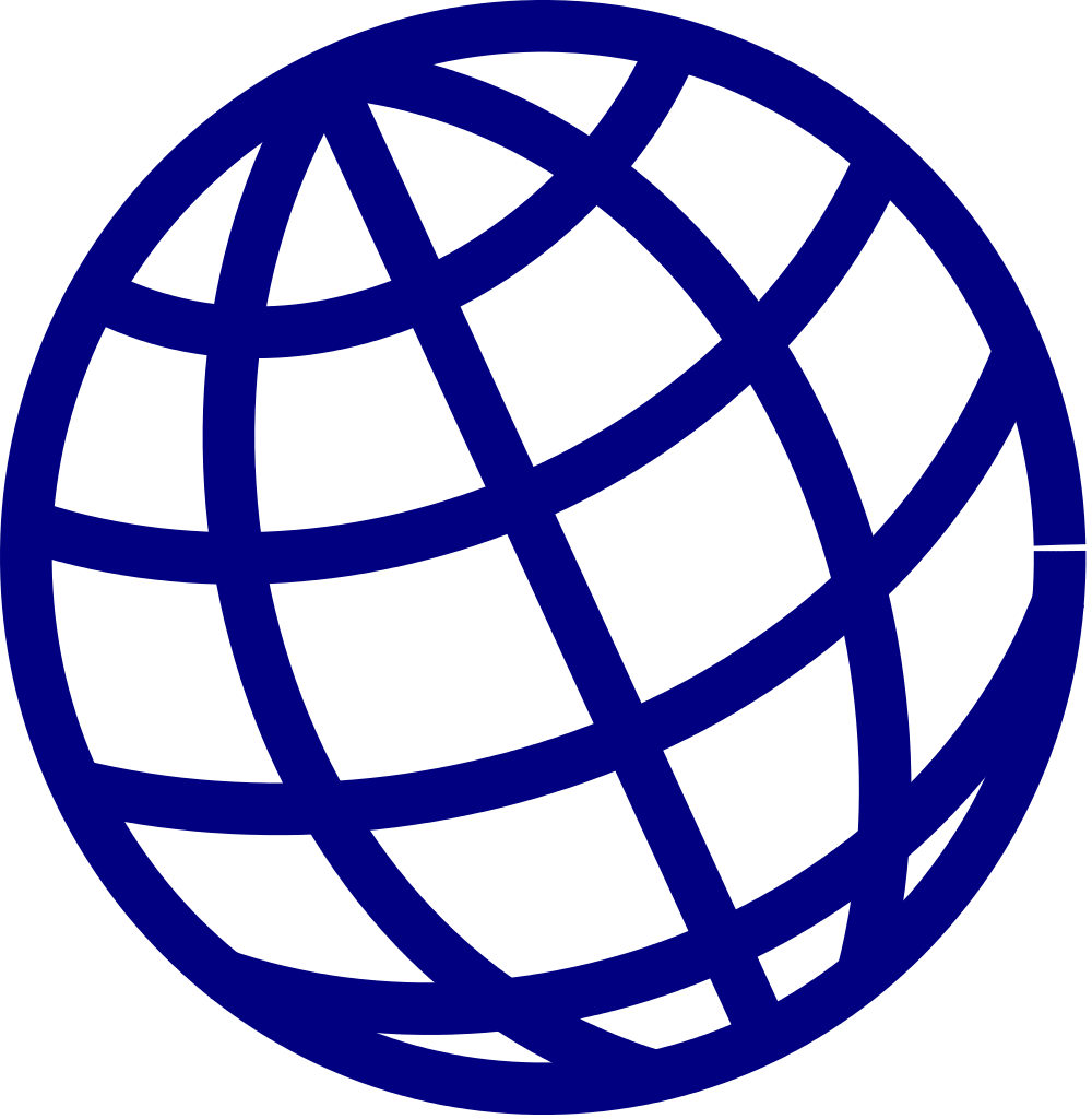 Website clipart globe icon.  px blue svg