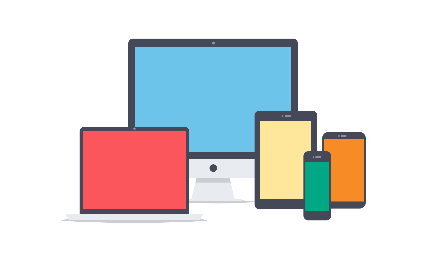 What does responsive mean. Website clipart mobile friendly