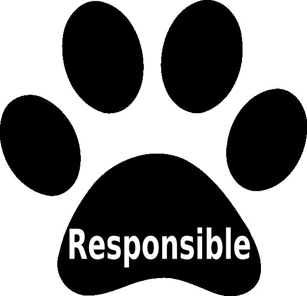 Website clipart responsible. Paw print clip art