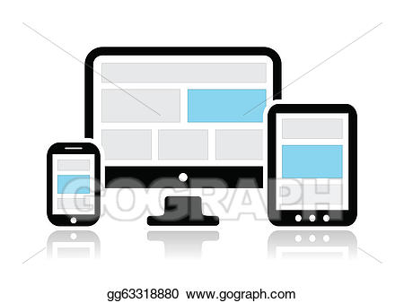 Website clipart responsive website. Vector design for web