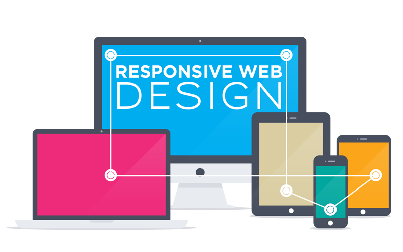 Infographic web design . Website clipart responsive website