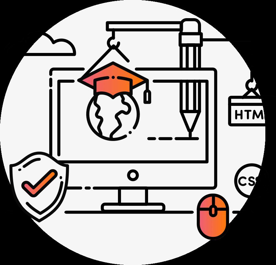 Design development in coventry. Website clipart school website