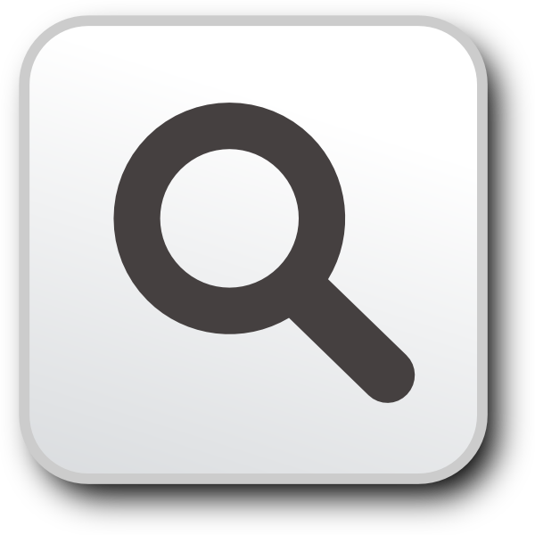 Button without text clip. Website clipart search icon