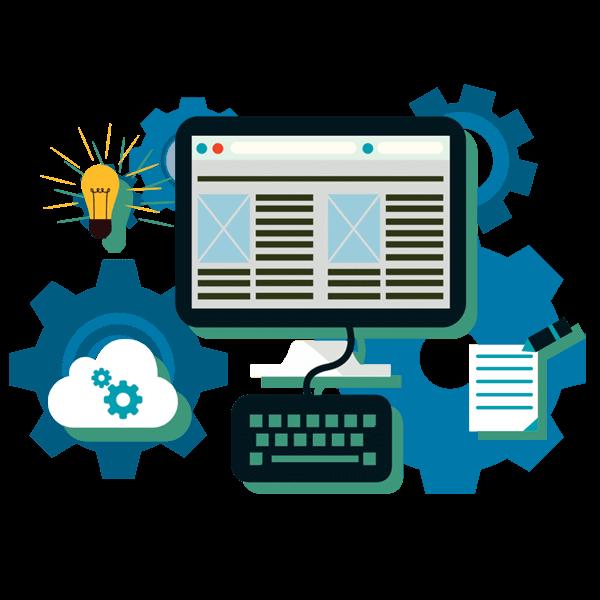 Website clipart software design. Custom development and web