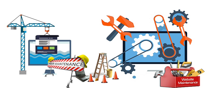 Web mobile app maintenance. Website clipart software design
