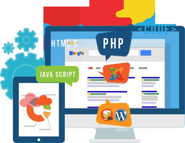 Website clipart web development. Company custom application services