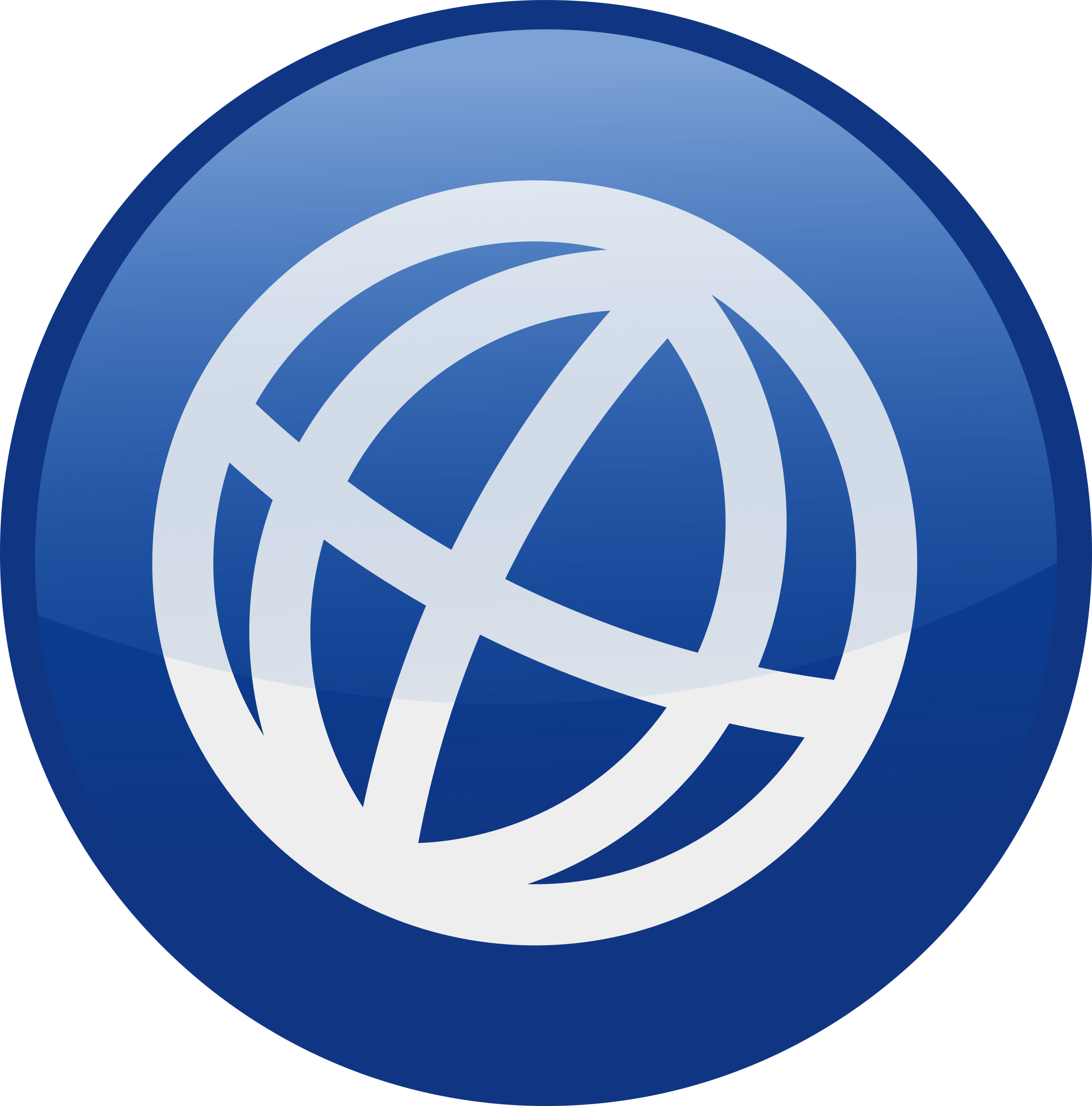 Globe blue big image. Website clipart web icon