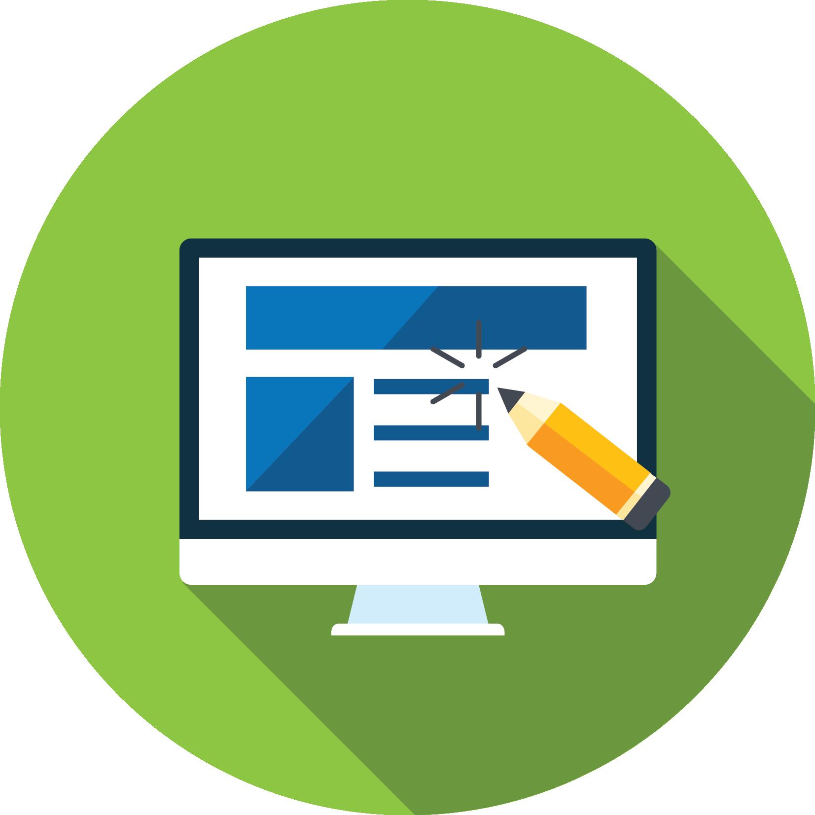 Website clipart web service. Design application development services