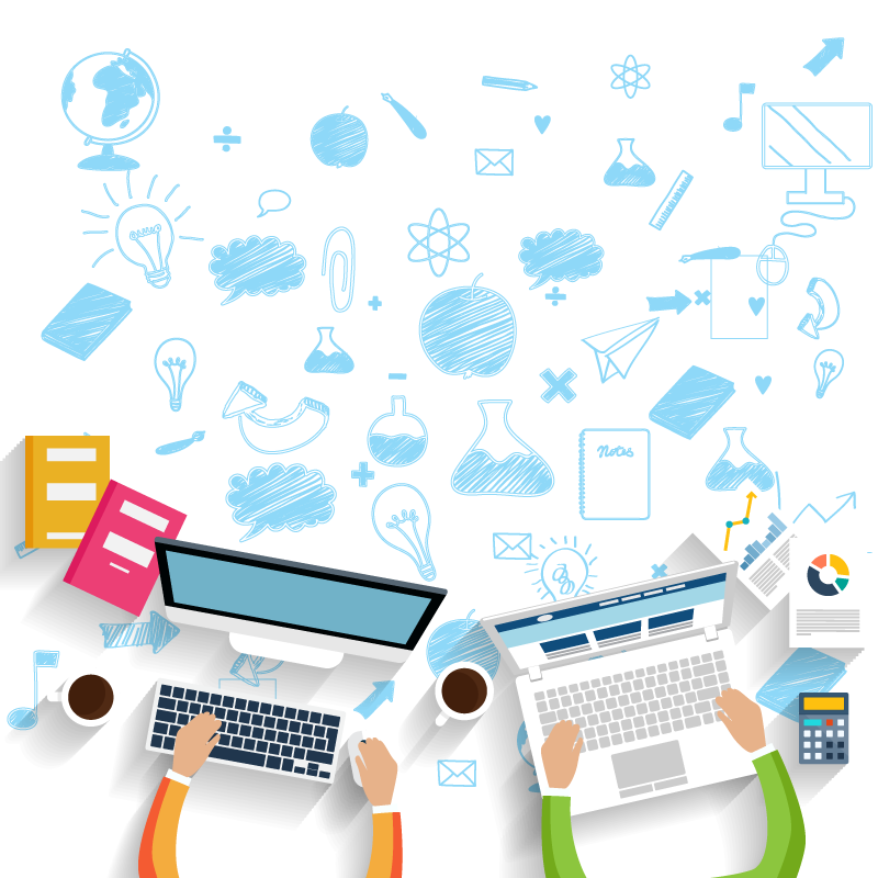 Design and development with. Website clipart web service