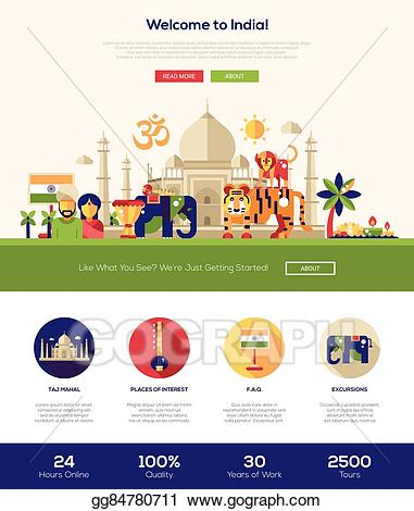Website clipart web site. Vector traveling to india