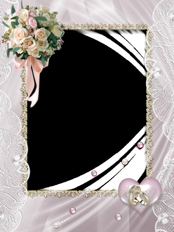 Beautiful soft transparent photo. Wedding frame png