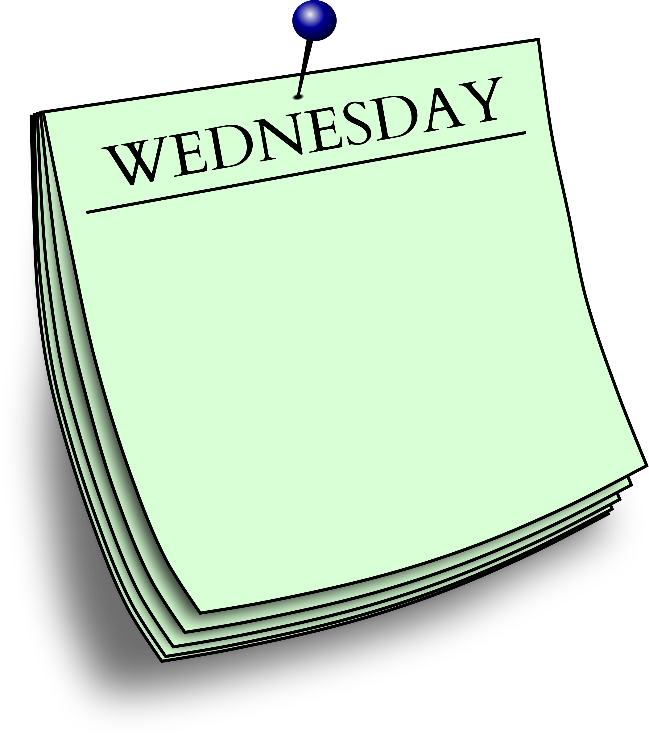 Wednesday clipart. Daily note big image