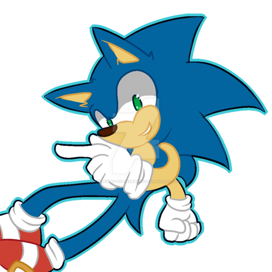 Wednesday clipart half way. Sonic i guess by