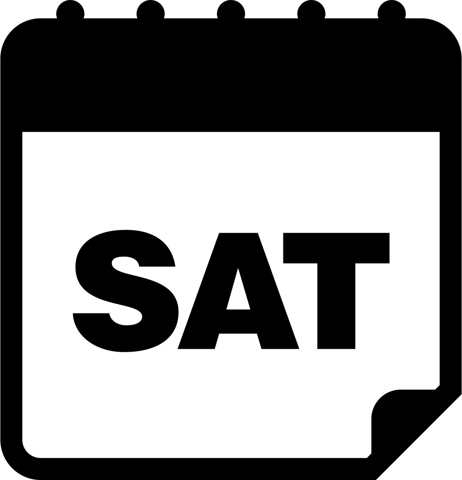 Daily page interface symbol. Wednesday clipart saturday calendar
