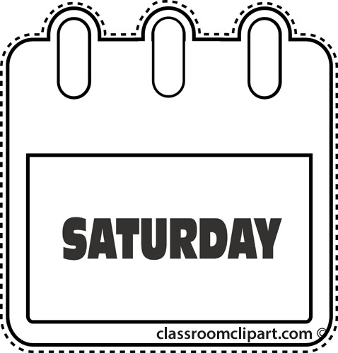 Wednesday clipart saturday calendar. Free clip art pictures