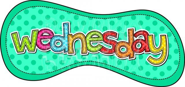 Wednesday clipart sunday calendar.  days of the