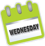 Free clip art pictures. Wednesday clipart tuesday calendar
