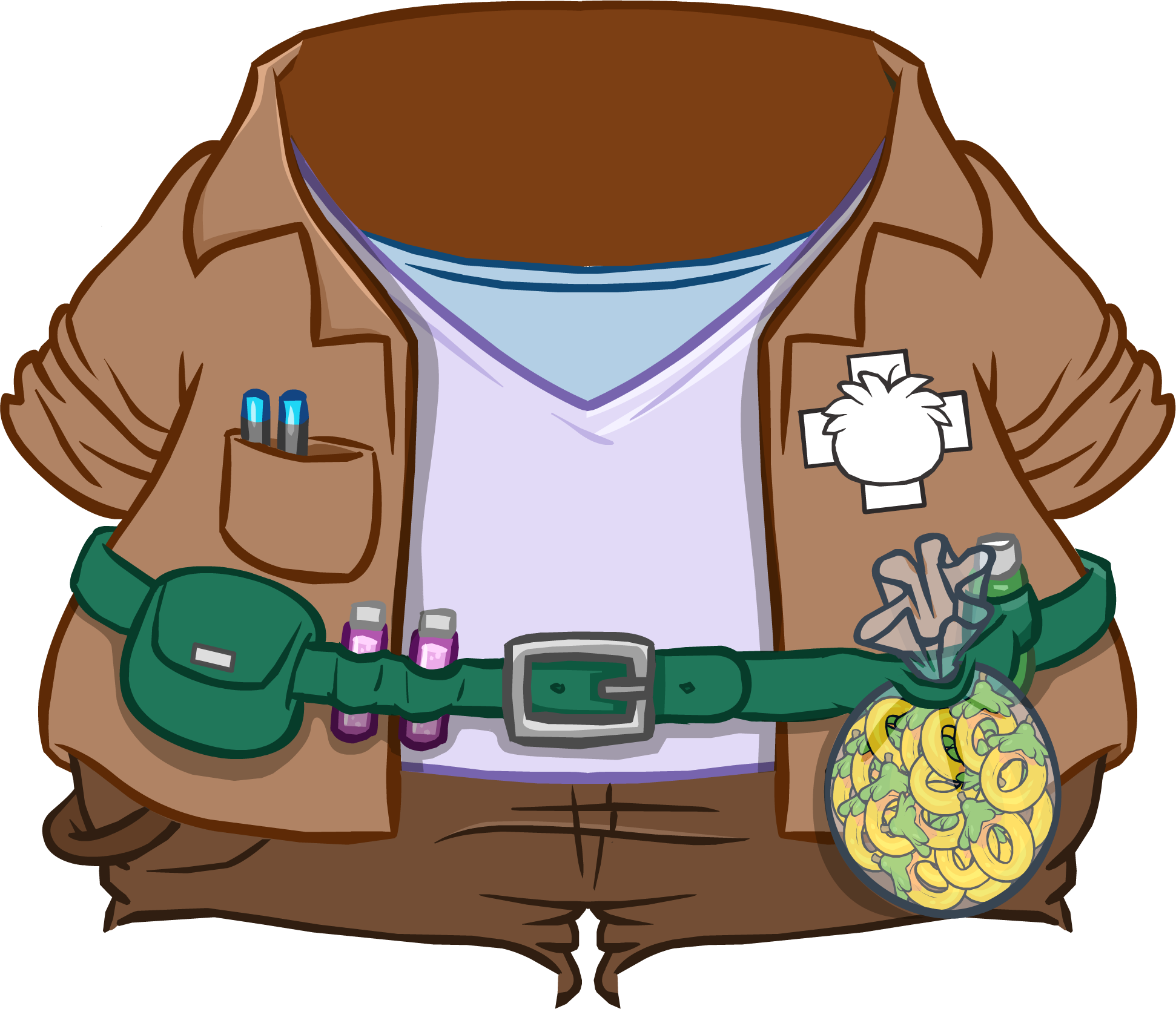 Wednesday clipart wacky clothes. Puffle trainer outfit club