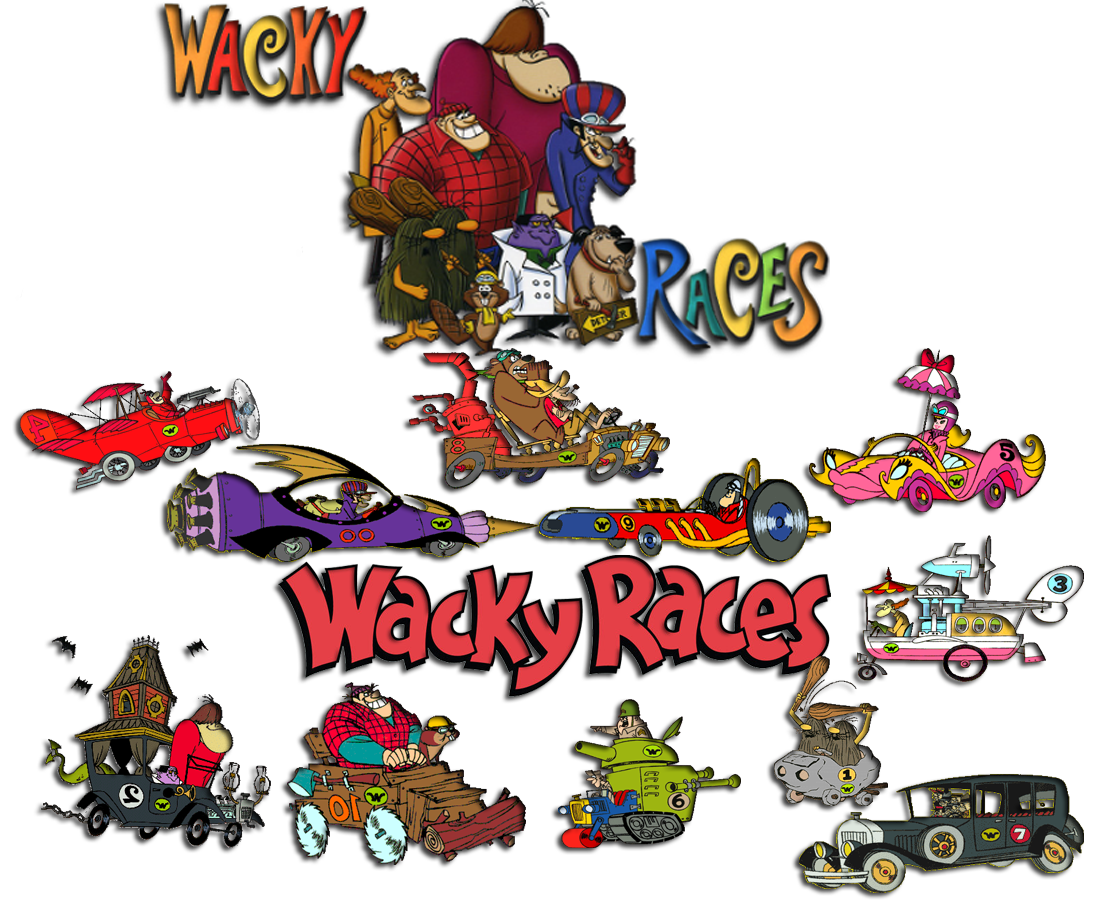 Wednesday clipart whacky. Wacky races soundeffects wiki