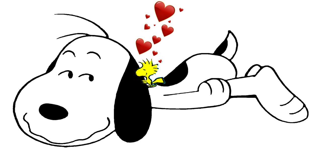 Cute love snoopy and. Wednesday clipart woodstock