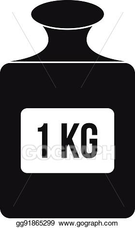 Vector stock one kilogram. Weight clipart 1 kg