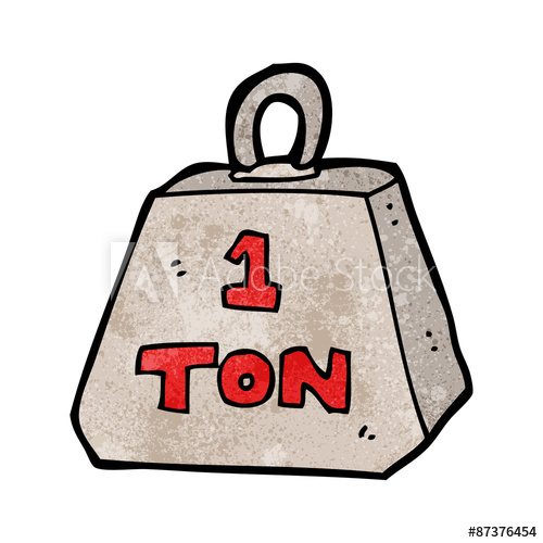 Weight clipart 1 ton. Cartoon one buy this