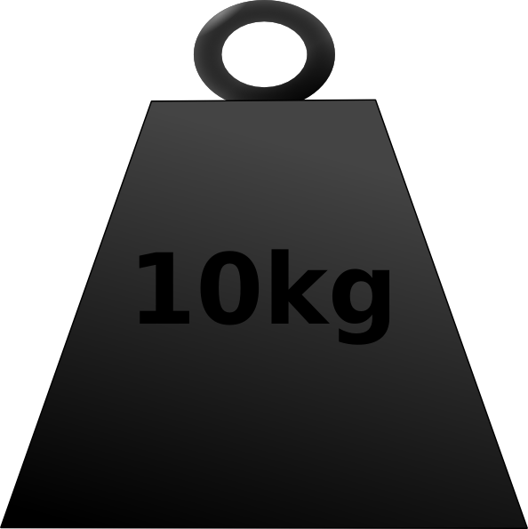 clip art at. Weight clipart 10 kg