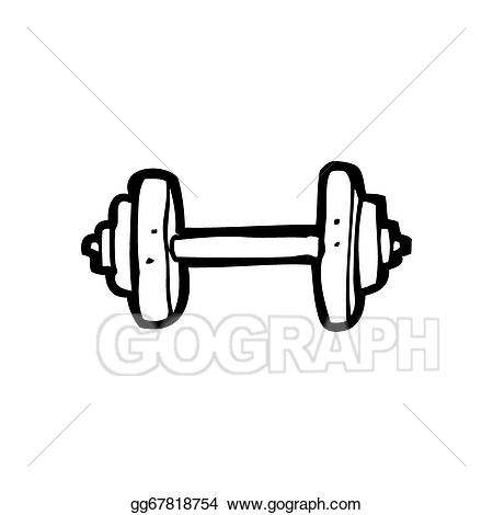 Weight clipart cartoon. Stock illustration weights gg