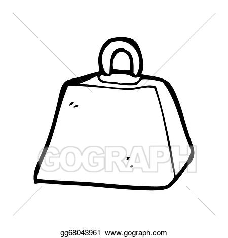 Weight clipart cartoon. Stock illustration drawing