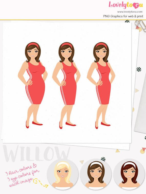 Weight clipart exercise weight. Woman loss character illustration