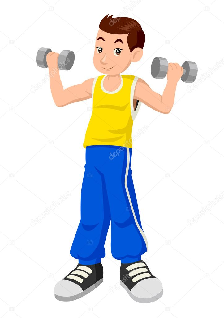 Weight clipart exercise weight. Download cartoon boy loss