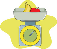 Scale . Weight clipart food