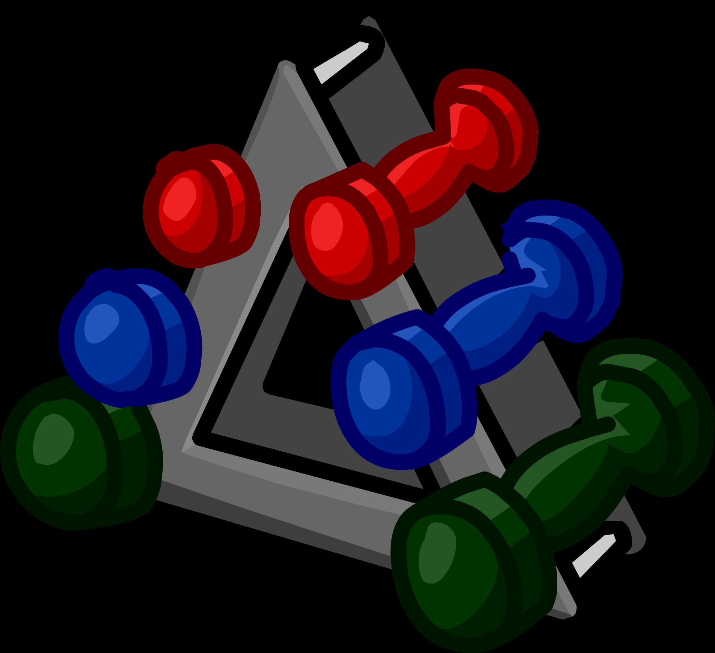 Weight clipart hand weight. Weights club penguin wiki