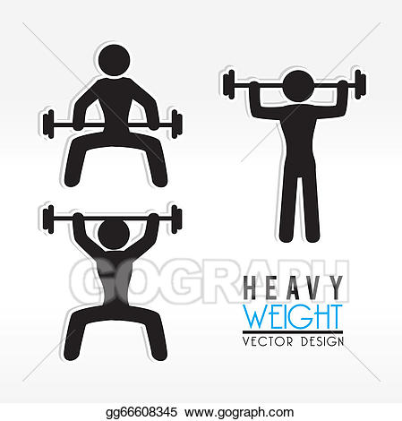 Vector illustration . Weight clipart heavy weight