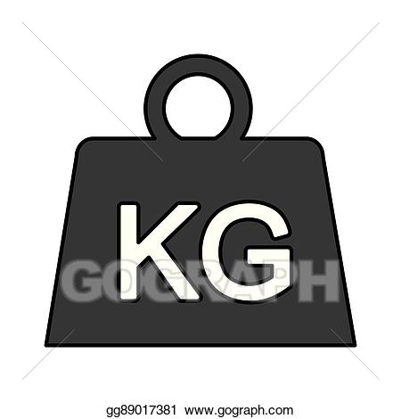 Clip art vector isolated. Weight clipart kilogram