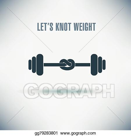 Vector illustration of stock. Weight clipart lack exercise