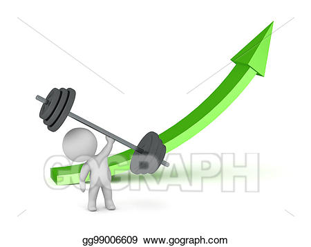 Stock illustration d character. Weight clipart large