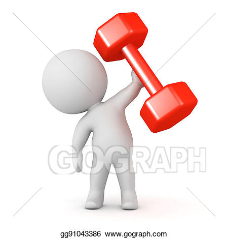 Weight clipart large. Stock illustration d character