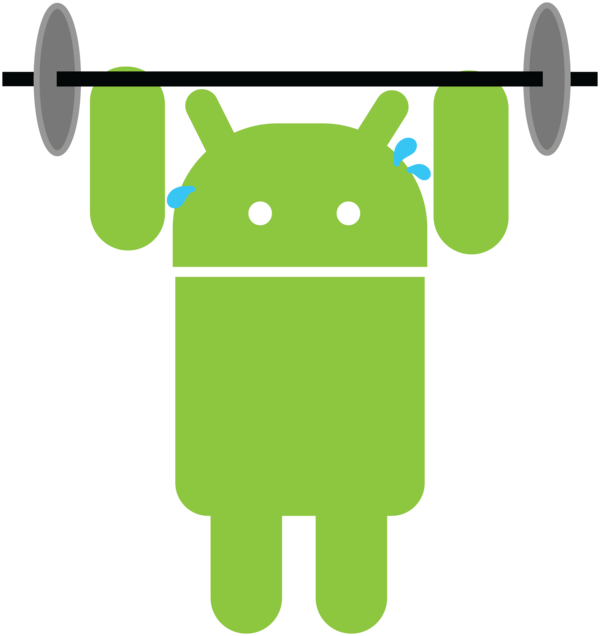 Weight clipart lift weight. Lifting android robot by