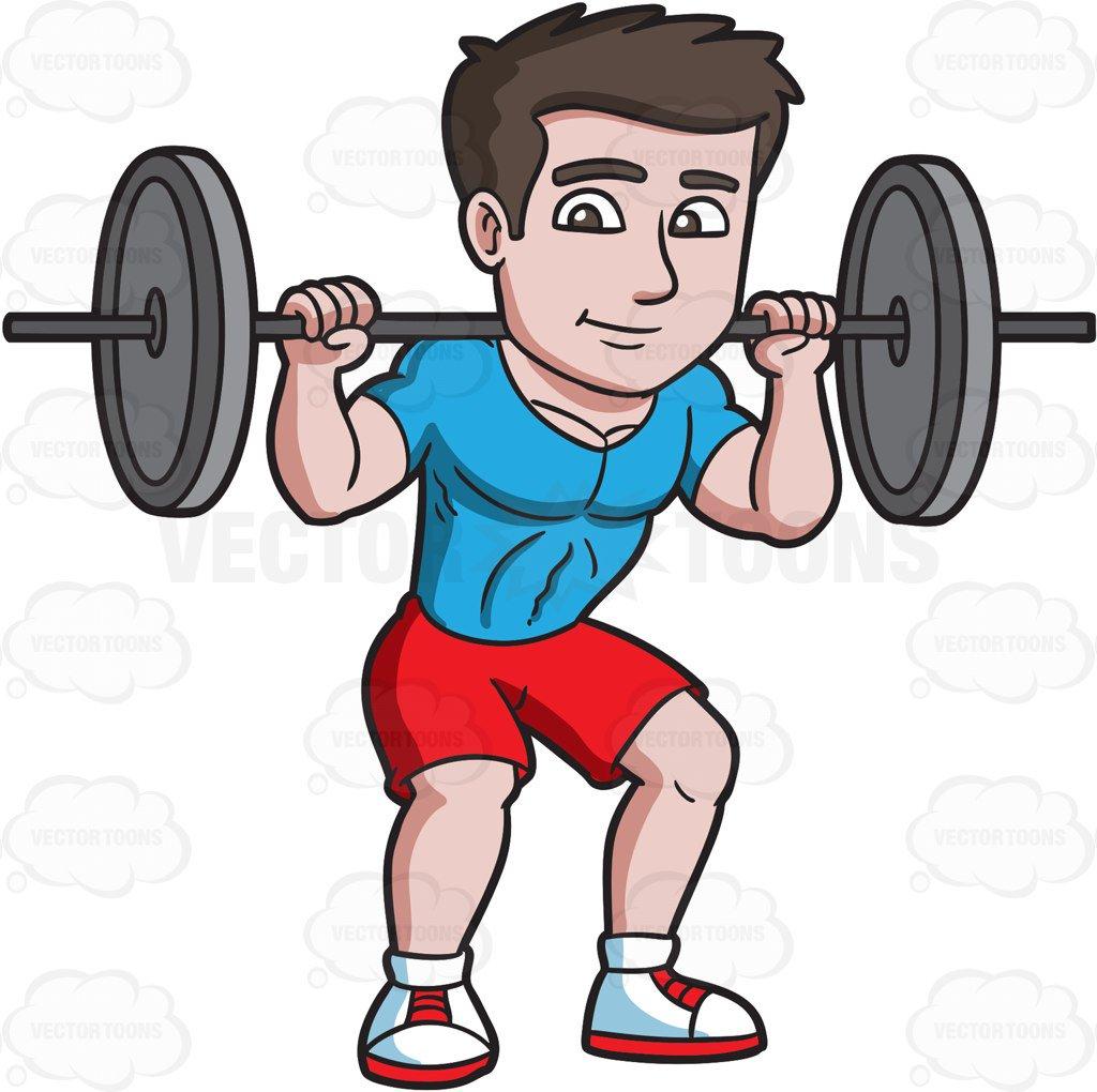 Weight clipart liftin. Man lifting weights station