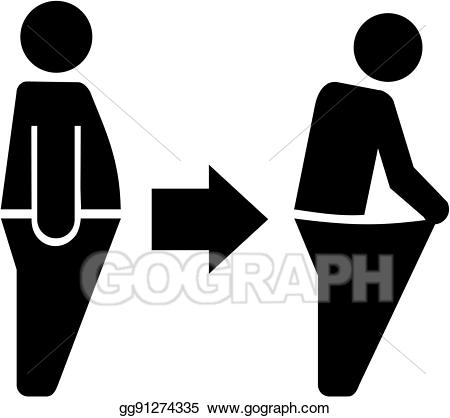 Weight clipart loose weight. Vector art lose diet