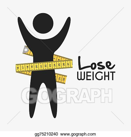Vector stock lose design. Weight clipart loose weight